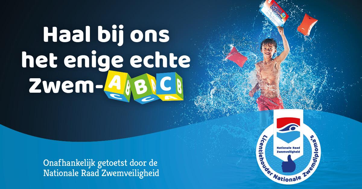 Haal het enige echte Zwem-ABC in zwembad de Gooye!