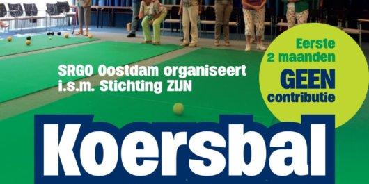 Koersbal in Oostdam